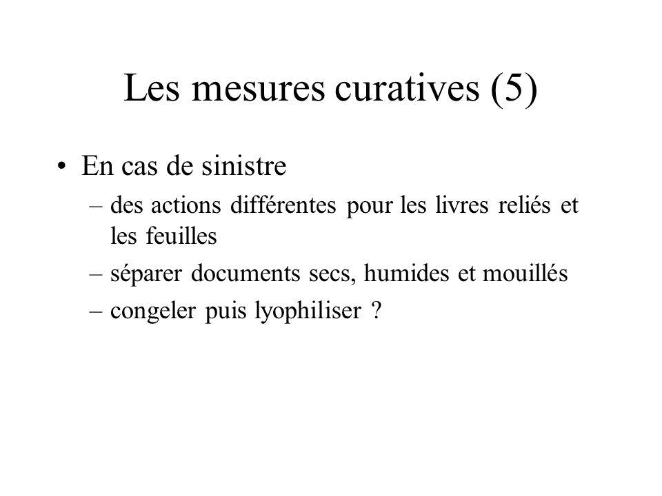 Les mesures curatives (5)