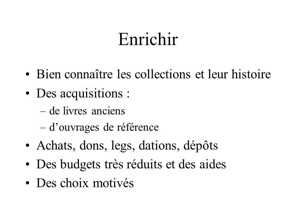 Enrichir Bien connaître les collections et leur histoire