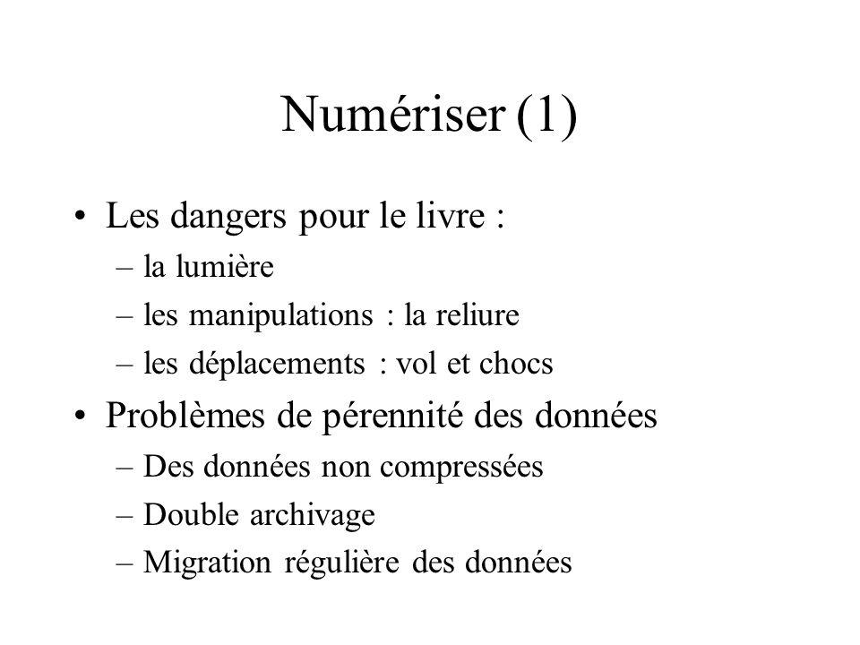 Numériser (1) Les dangers pour le livre :