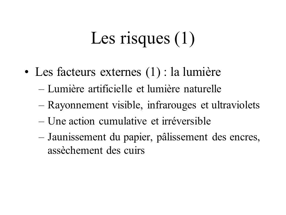 Les risques (1) Les facteurs externes (1) : la lumière