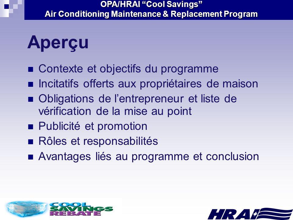 Aperçu Contexte et objectifs du programme