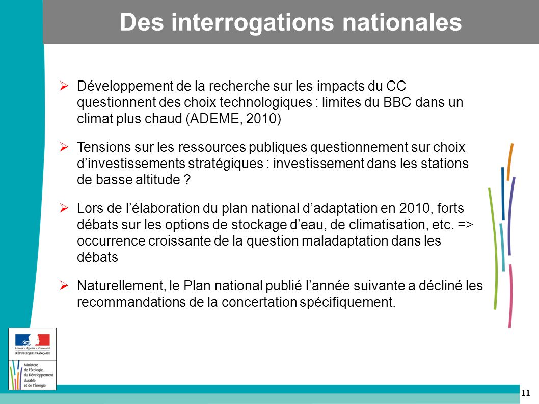 Des interrogations nationales