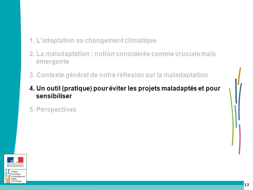 1. L'adaptation au changement climatique