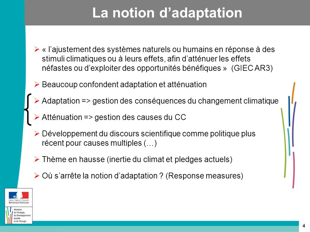 La notion d'adaptation