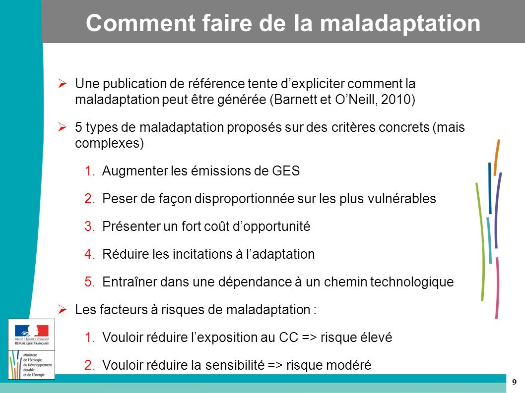 Comment faire de la maladaptation