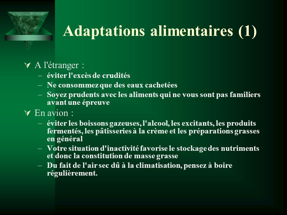 Adaptations alimentaires (1)