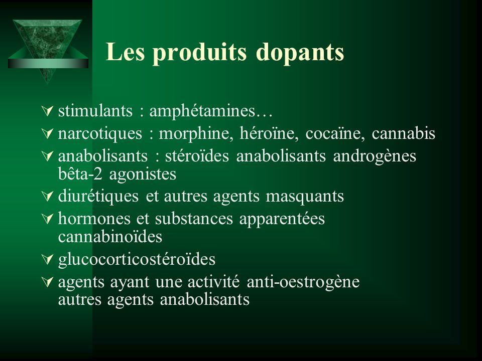 Les produits dopants stimulants : amphétamines…