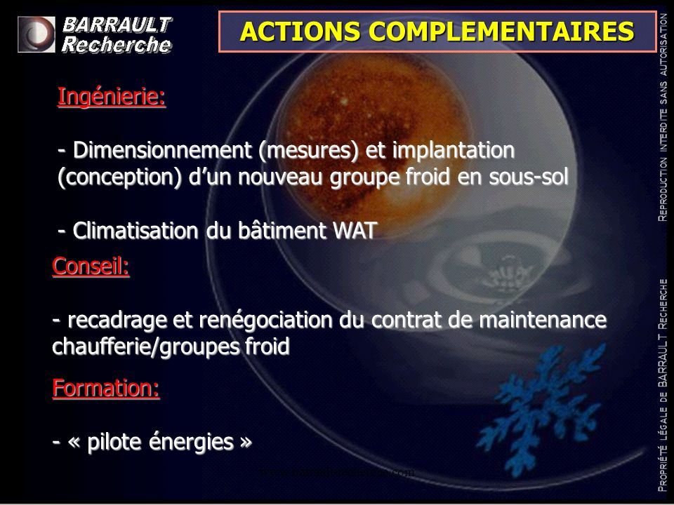 ACTIONS COMPLEMENTAIRES