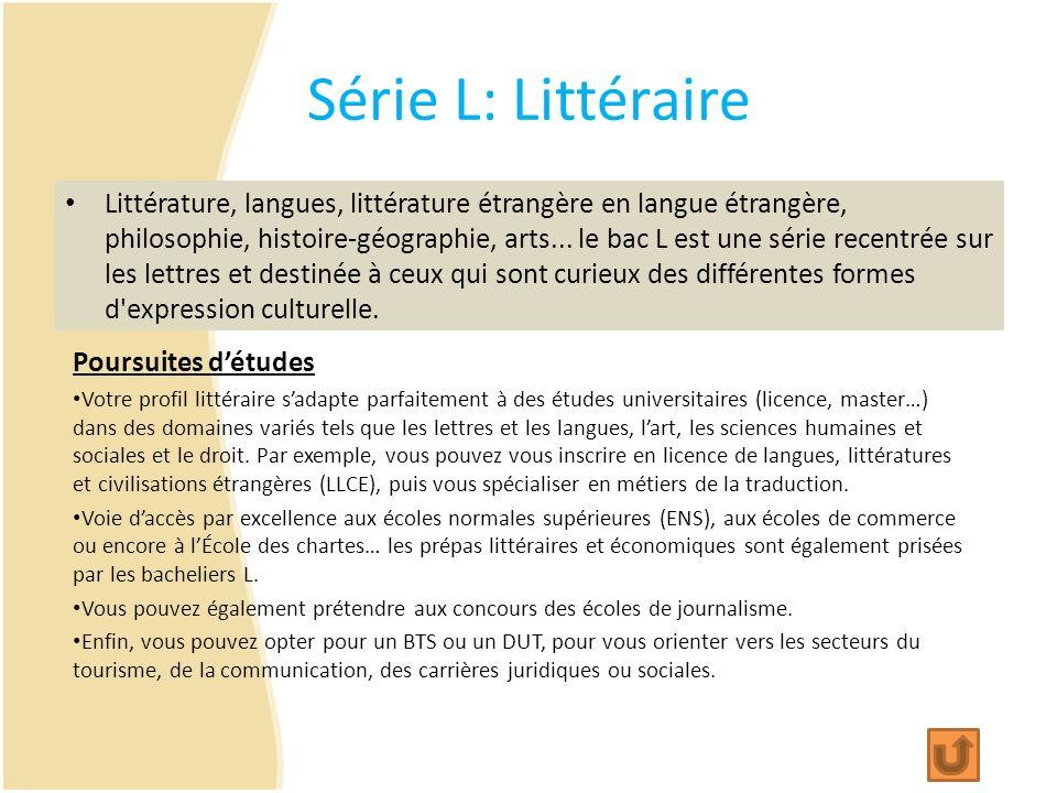 Série L: Littéraire