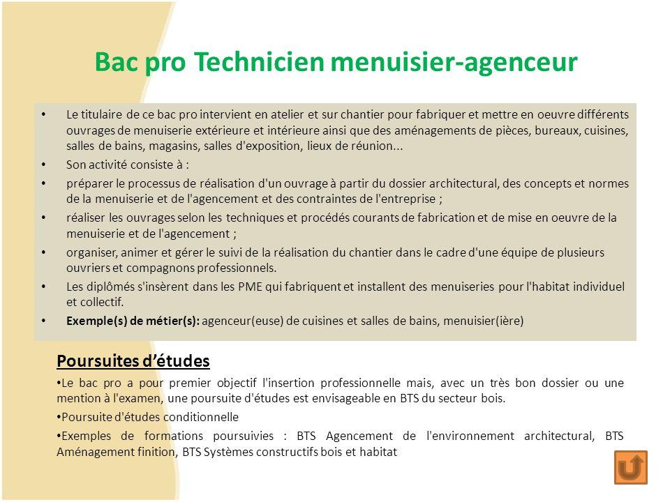 Bac pro Technicien menuisier-agenceur