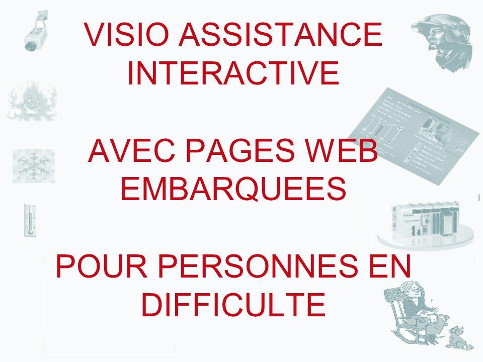 VISIO ASSISTANCE INTERACTIVE AVEC PAGES WEB EMBARQUEES POUR PERSONNES EN DIFFICULTE