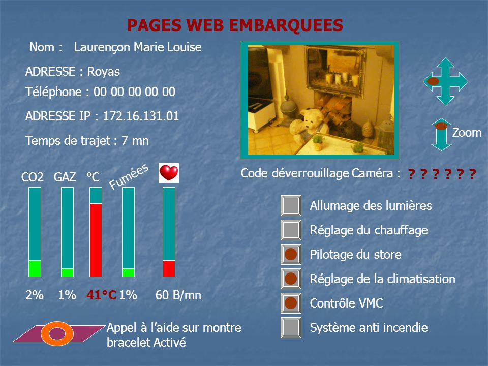 PAGES WEB EMBARQUEES Nom : Laurençon Marie Louise
