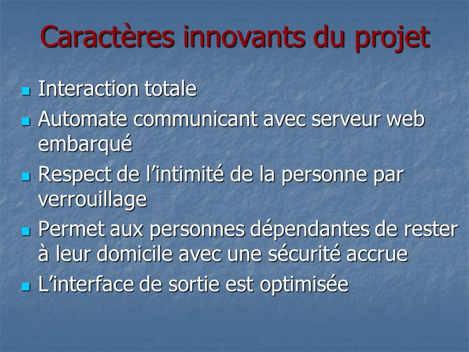 Caractères innovants du projet