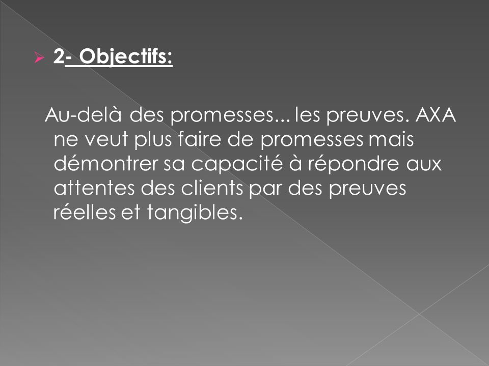 2- Objectifs: