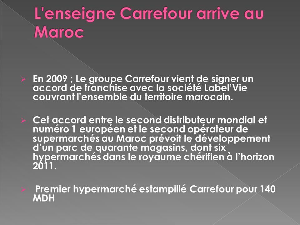 L enseigne Carrefour arrive au Maroc