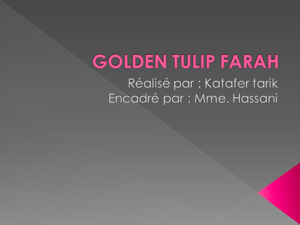 Réalisé par : Katafer tarik Encadré par : Mme. Hassani