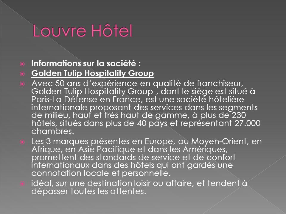 Louvre Hôtel Informations sur la société :