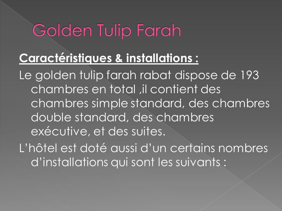 Golden Tulip Farah