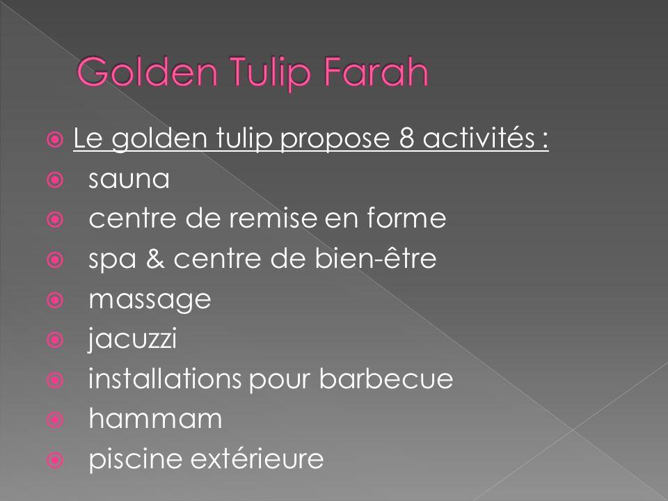 Golden Tulip Farah Le golden tulip propose 8 activités : sauna