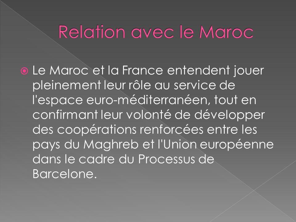 Relation avec le Maroc