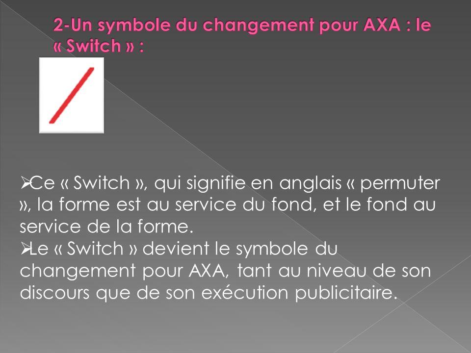 2-Un symbole du changement pour AXA : le « Switch » :