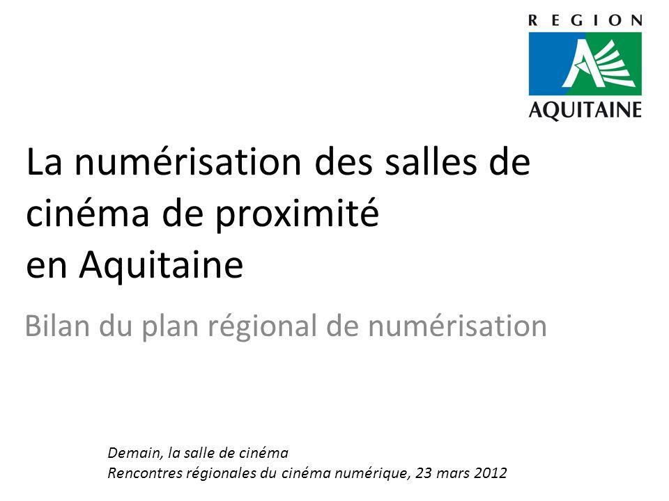 La numérisation des salles de cinéma de proximité en Aquitaine