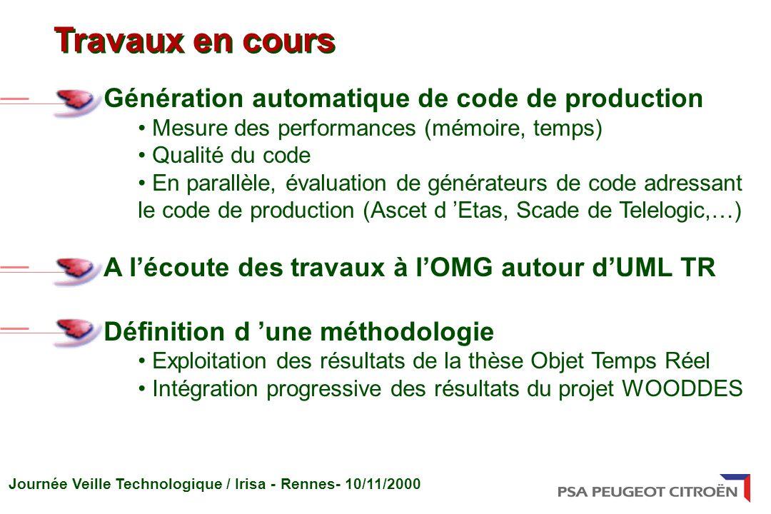 Travaux en cours Génération automatique de code de production