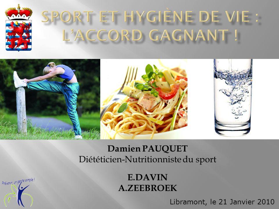 Sport et hygiène de vie : l'accord gagnant !