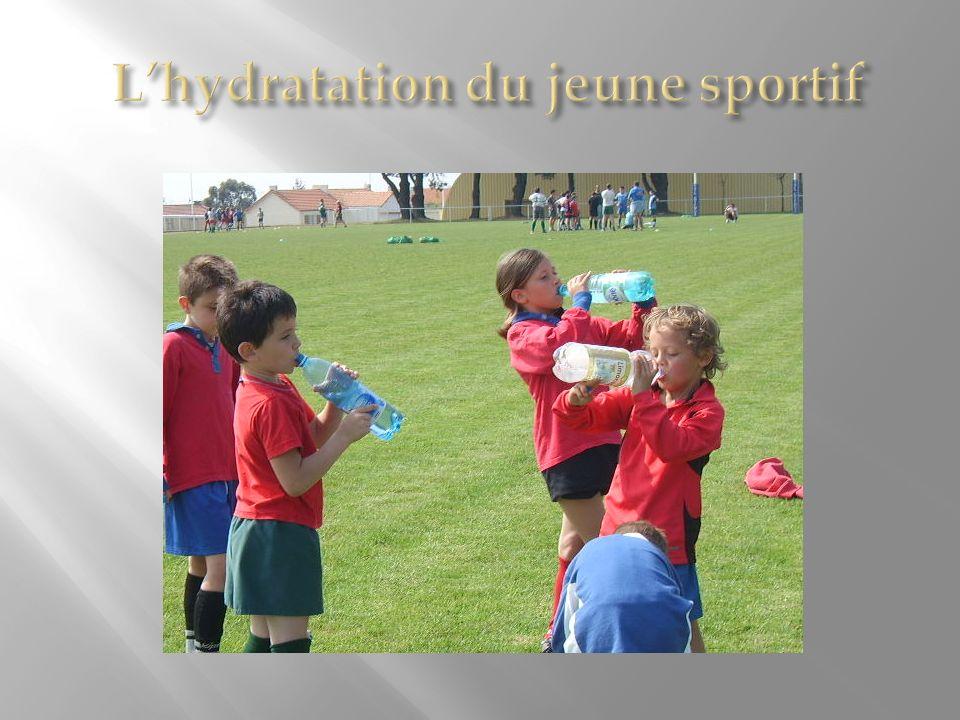 L'hydratation du jeune sportif