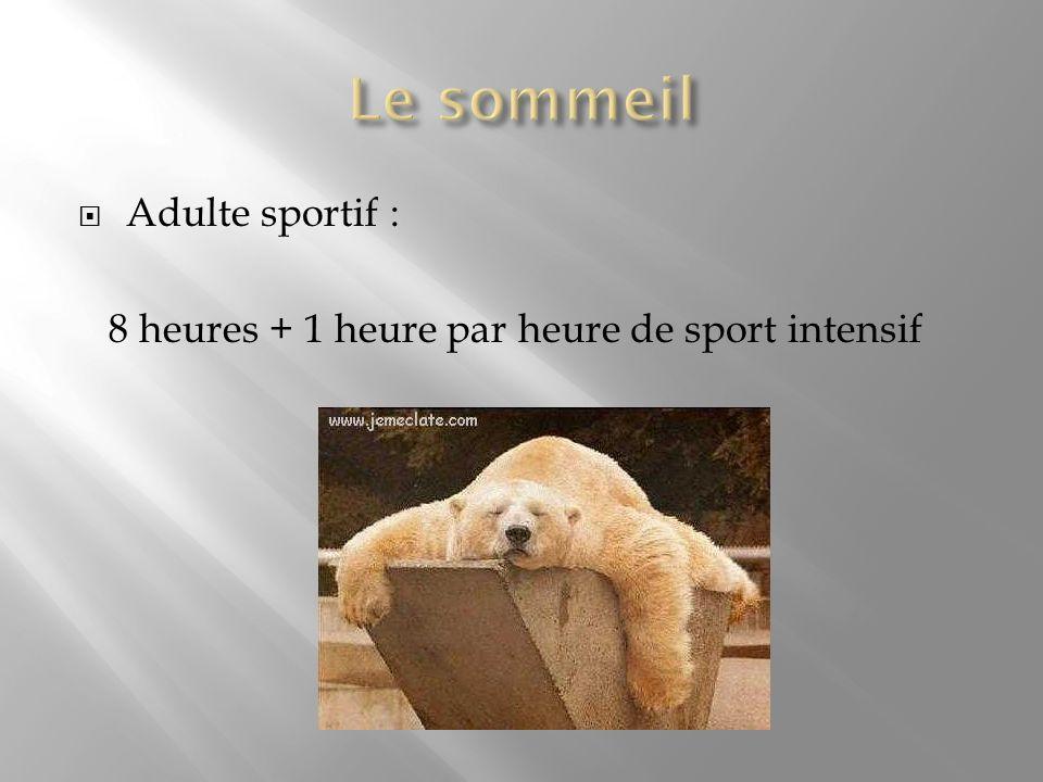 Le sommeil Adulte sportif :