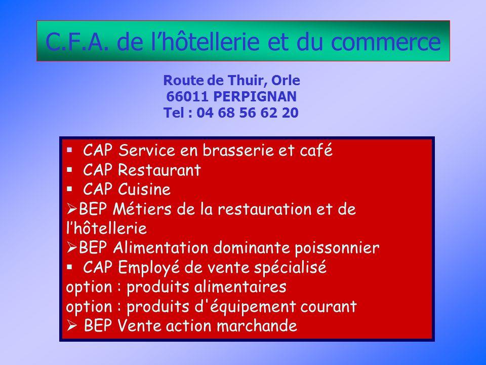 C.F.A. de l'hôtellerie et du commerce