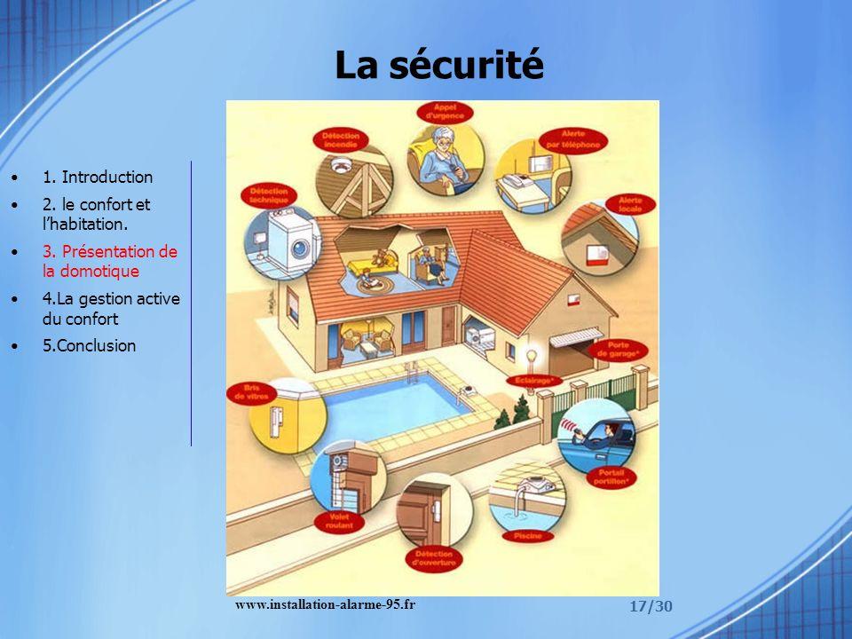 La sécurité 1. Introduction 2. le confort et l'habitation.