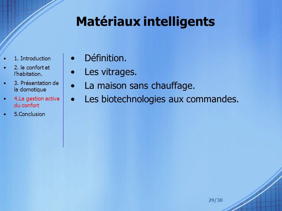 Matériaux intelligents