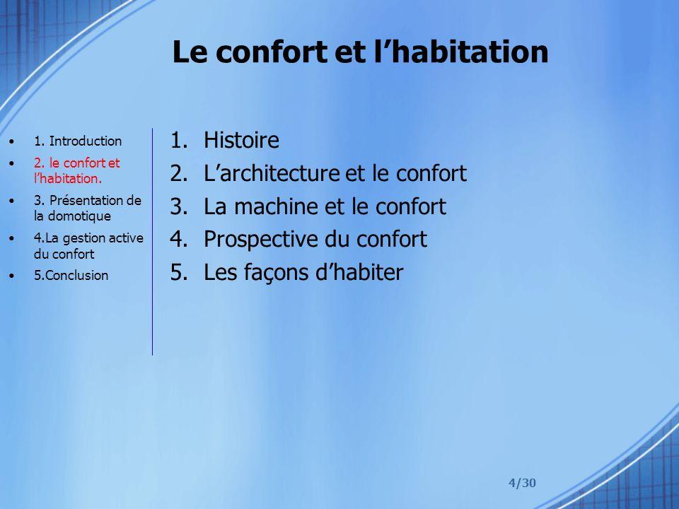 Le confort et l'habitation