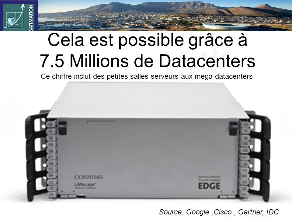 Cela est possible grâce à 7.5 Millions de Datacenters