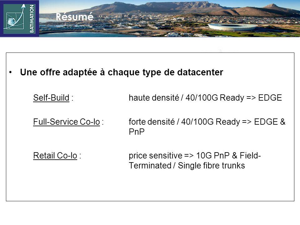 Résumé Une offre adaptée à chaque type de datacenter