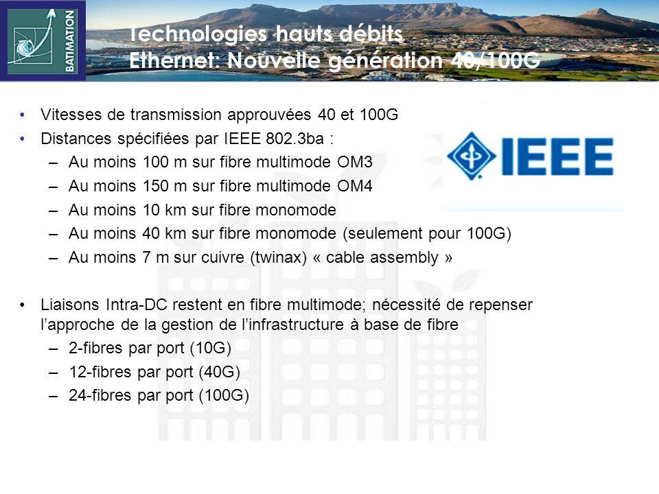 Technologies hauts débits Ethernet: Nouvelle génération 40/100G