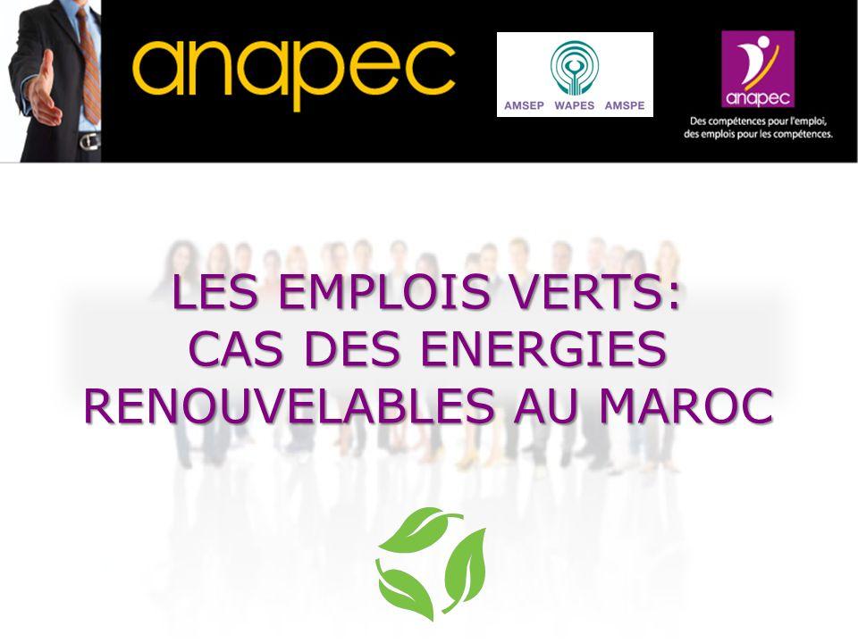 CAS DES ENERGIES RENOUVELABLES AU MAROC