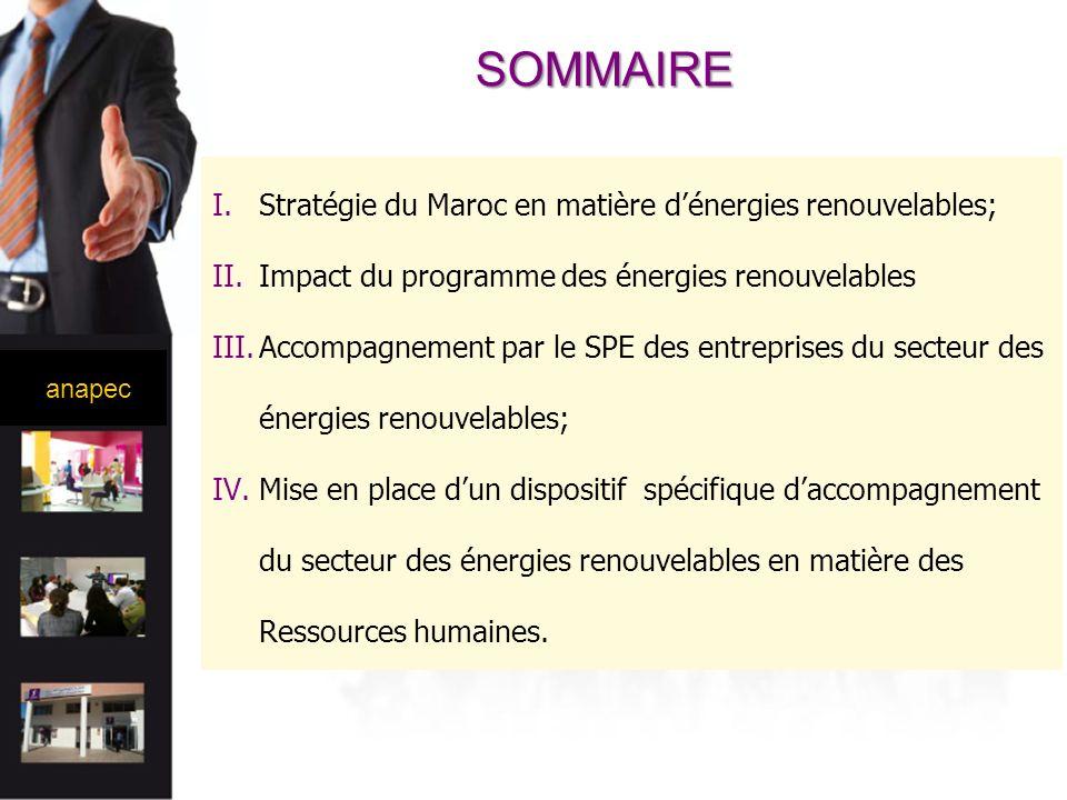 SOMMAIRE Stratégie du Maroc en matière d'énergies renouvelables;