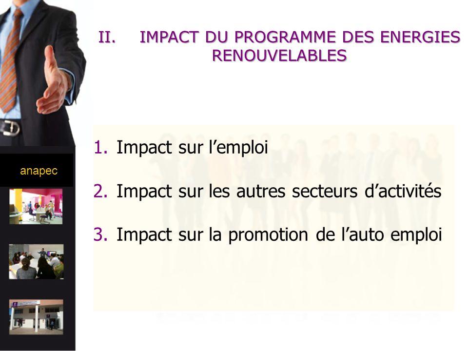 IMPACT DU PROGRAMME DES ENERGIES RENOUVELABLES