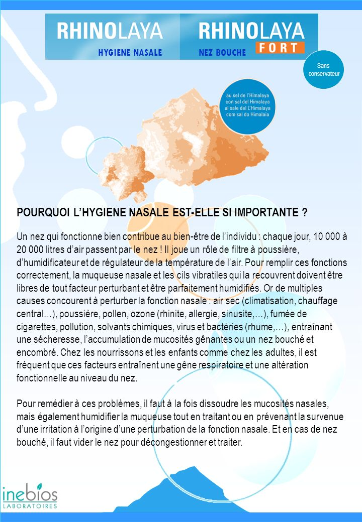 POURQUOI L'HYGIENE NASALE EST-ELLE SI IMPORTANTE