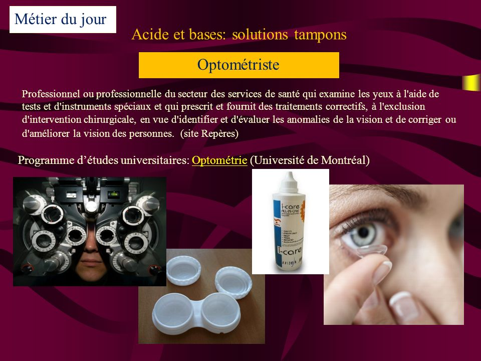 Acide et bases: solutions tampons