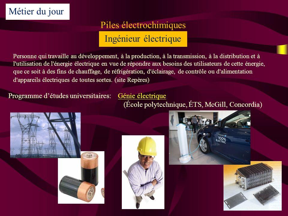 Piles électrochimiques
