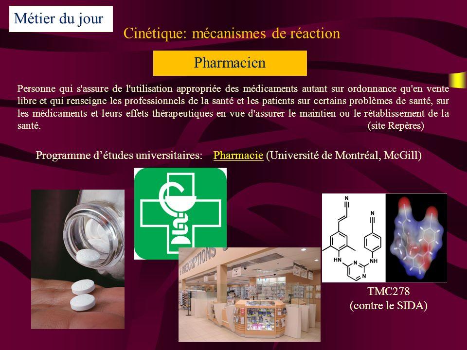 Cinétique: mécanismes de réaction