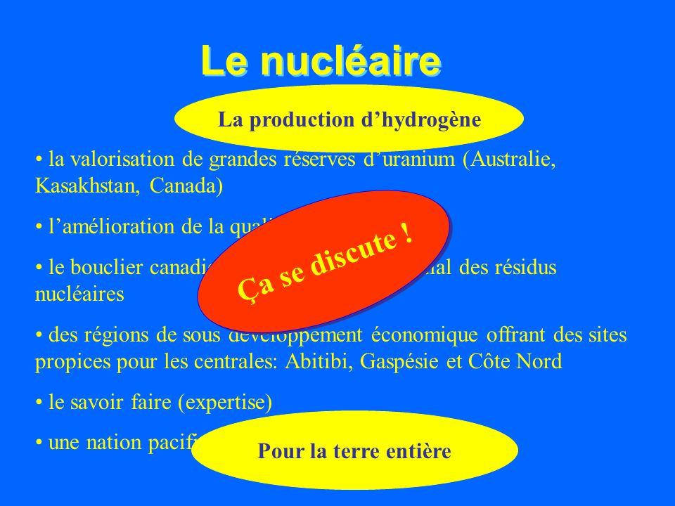 La production d'hydrogène