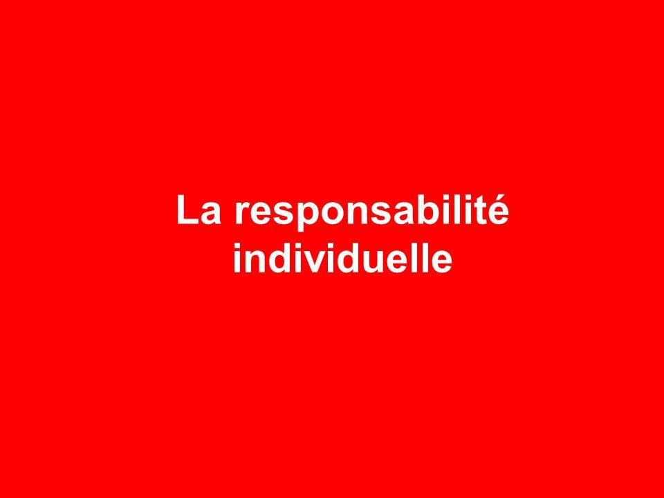 La responsabilité individuelle