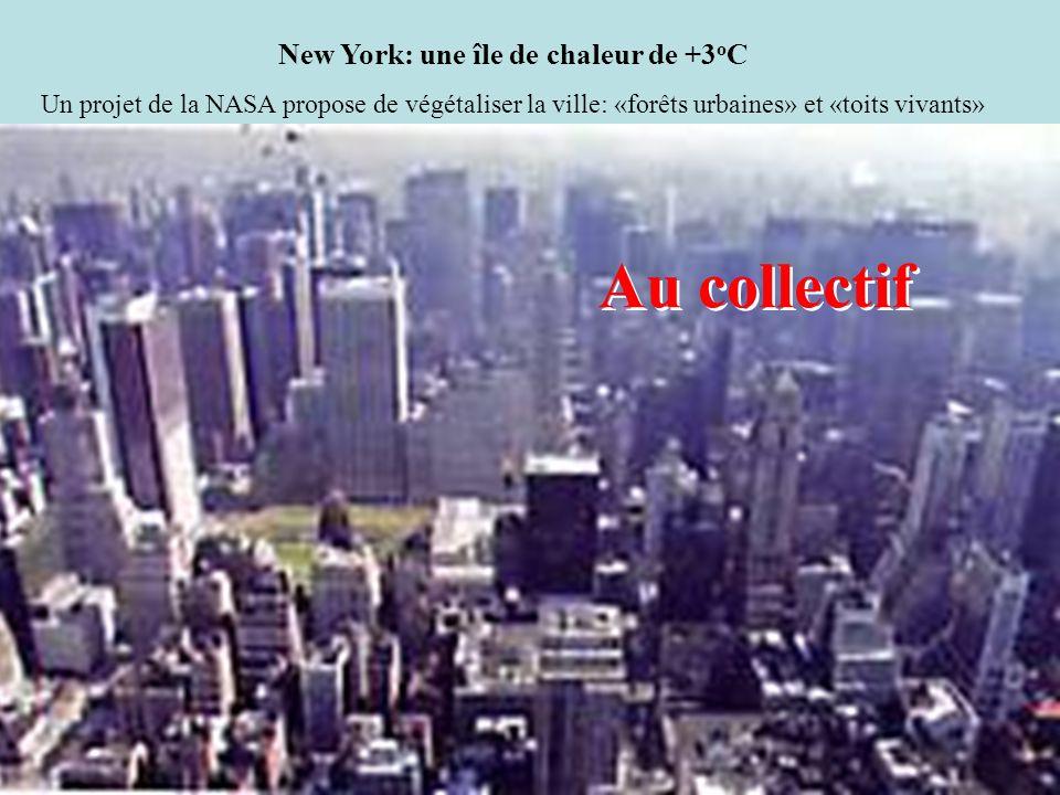 New York: une île de chaleur de +3oC