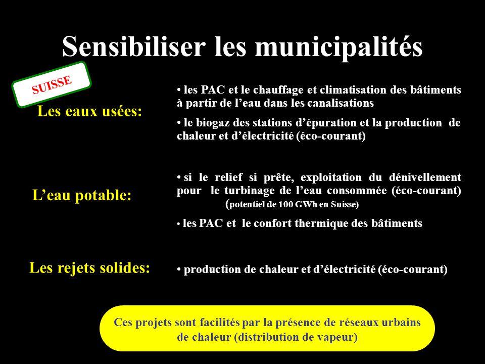 Sensibiliser les municipalités