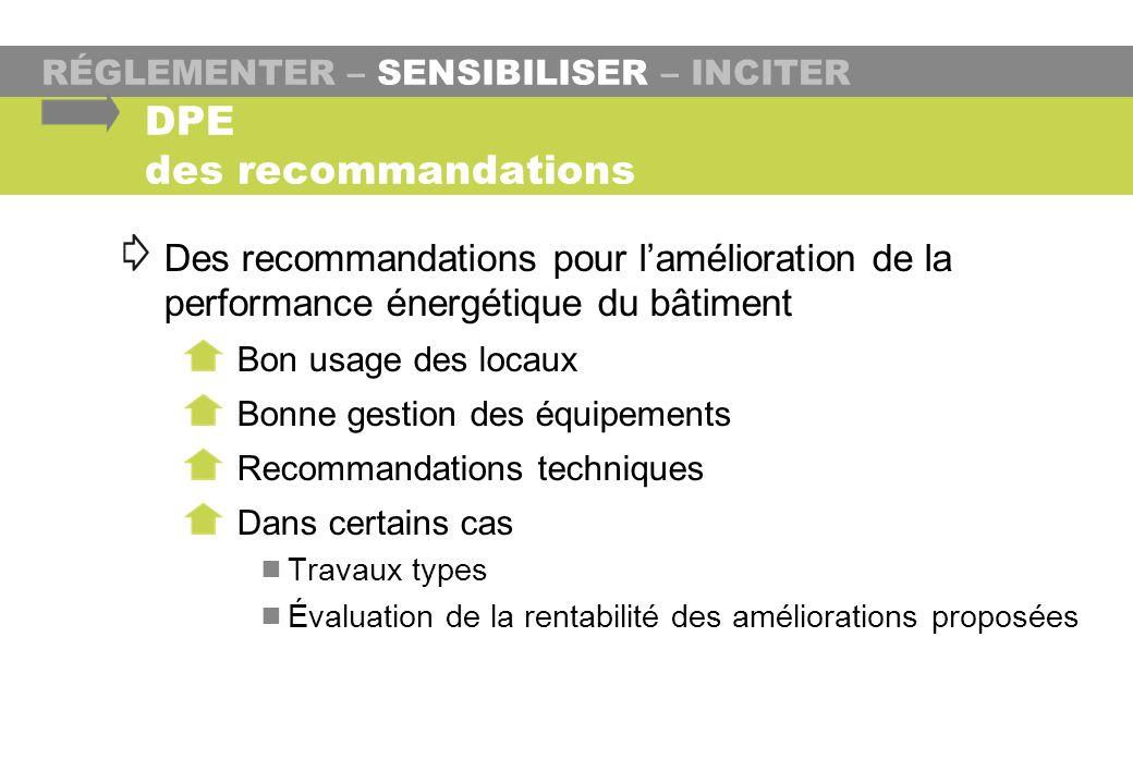 DPE des recommandations