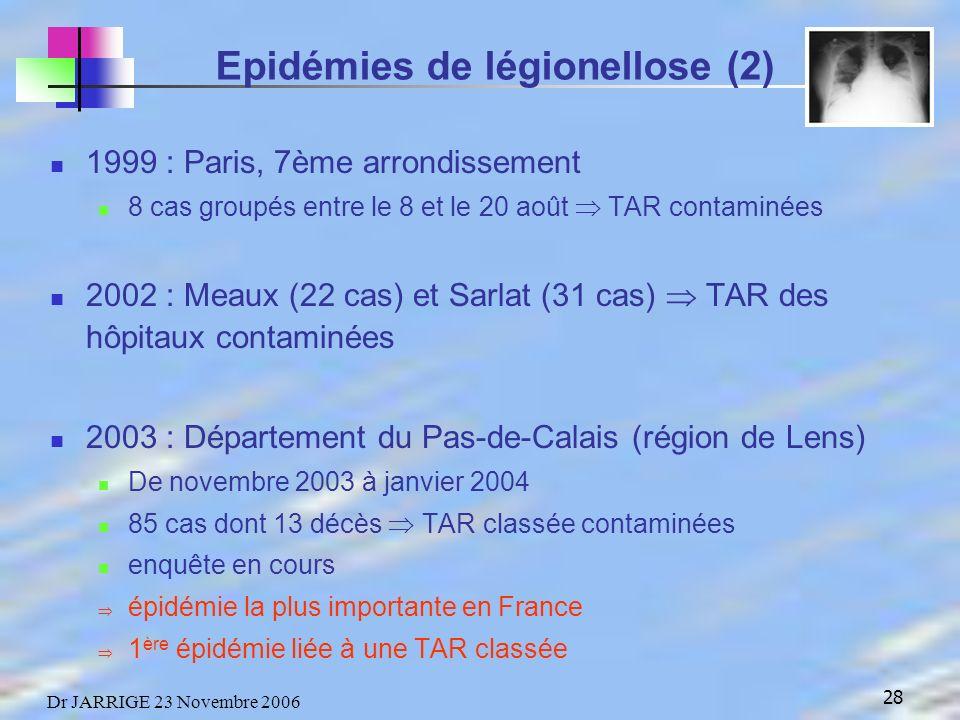 Epidémies de légionellose (2)